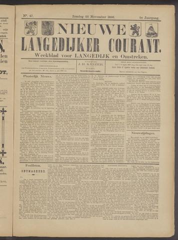 Nieuwe Langedijker Courant 1896-11-22