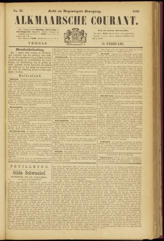 Alkmaarsche Courant 1896-02-21