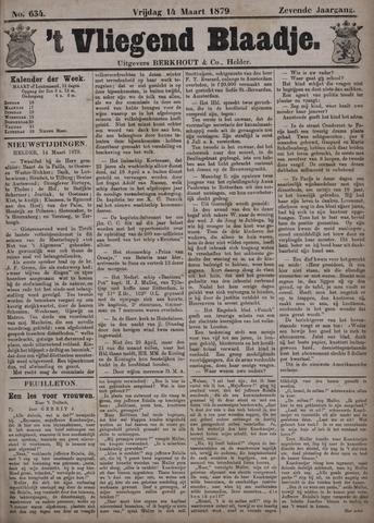 Vliegend blaadje : nieuws- en advertentiebode voor Den Helder 1879-03-14