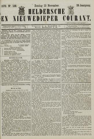 Heldersche en Nieuwedieper Courant 1870-11-13