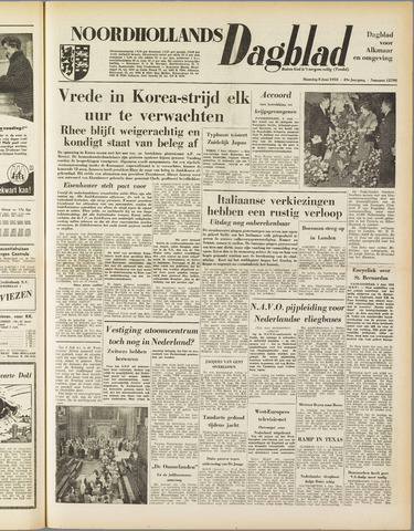 Noordhollands Dagblad : dagblad voor Alkmaar en omgeving 1953-06-08