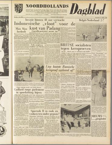 Noordhollands Dagblad : dagblad voor Alkmaar en omgeving 1958-04-14