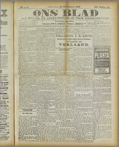 Ons Blad : katholiek nieuwsblad voor N-H 1919-11-29