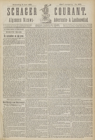 Schager Courant 1920-06-09