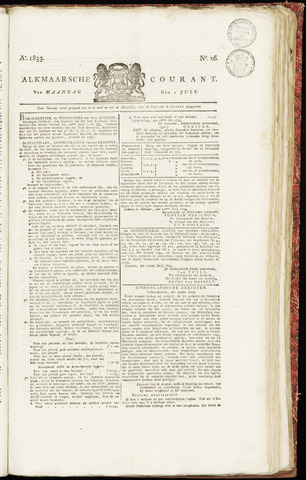 Alkmaarsche Courant 1833-07-01
