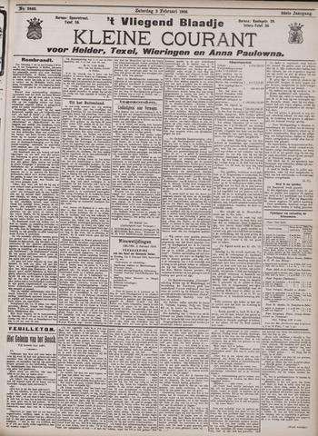 Vliegend blaadje : nieuws- en advertentiebode voor Den Helder 1906-02-03