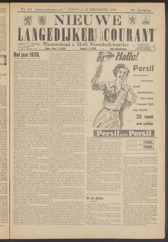 Nieuwe Langedijker Courant 1930-12-30