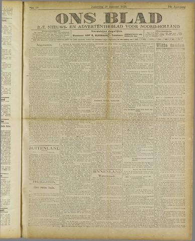 Ons Blad : katholiek nieuwsblad voor N-H 1920-01-24