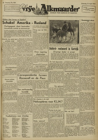 De Vrije Alkmaarder 1947-04-12