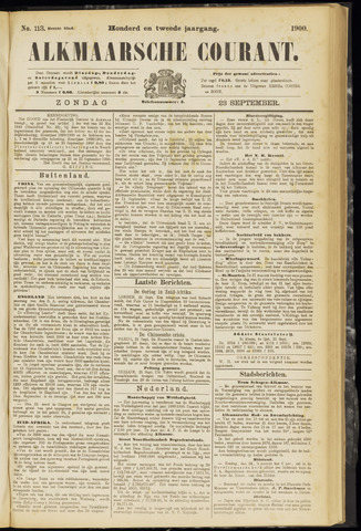 Alkmaarsche Courant 1900-09-23
