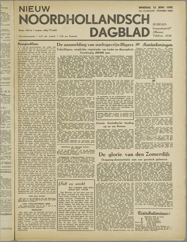 Nieuw Noordhollandsch Dagblad : voor Alkmaar en omgeving 1945-06-12