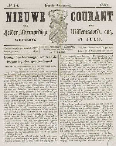 Nieuwe Courant van Den Helder 1861-07-17