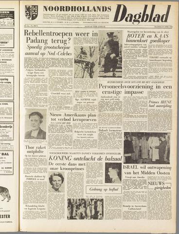 Noordhollands Dagblad : dagblad voor Alkmaar en omgeving 1958-04-21