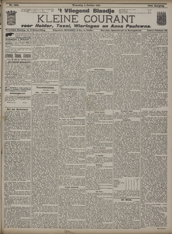 Vliegend blaadje : nieuws- en advertentiebode voor Den Helder 1909-10-06