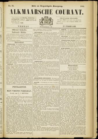 Alkmaarsche Courant 1891-02-27
