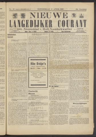 Nieuwe Langedijker Courant 1933-04-13