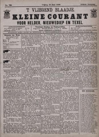 Vliegend blaadje : nieuws- en advertentiebode voor Den Helder 1880-06-25