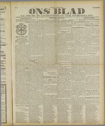 Ons Blad : katholiek nieuwsblad voor N-H 1921-02-07