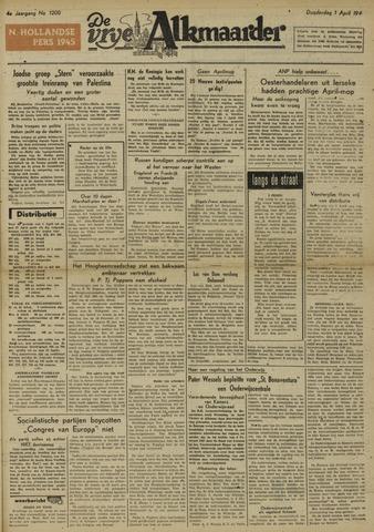 De Vrije Alkmaarder 1948-04-01