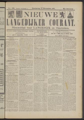 Nieuwe Langedijker Courant 1921-11-17