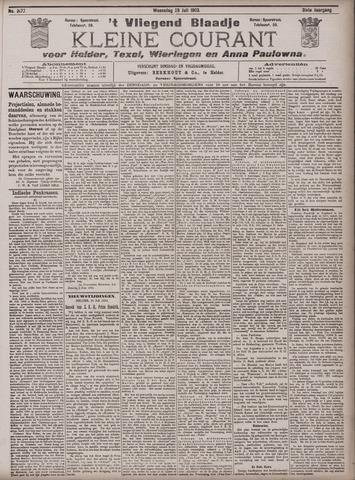 Vliegend blaadje : nieuws- en advertentiebode voor Den Helder 1903-07-29