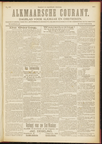 Alkmaarsche Courant 1917-11-28