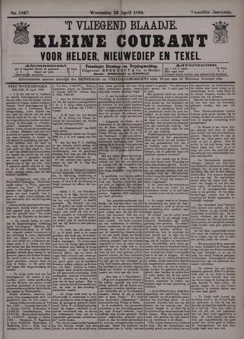 Vliegend blaadje : nieuws- en advertentiebode voor Den Helder 1884-04-23
