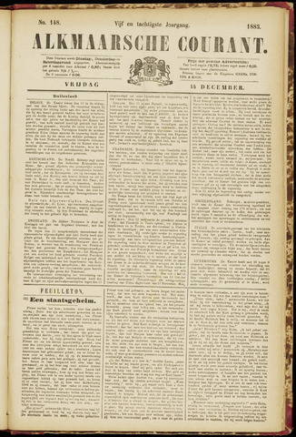 Alkmaarsche Courant 1883-12-14