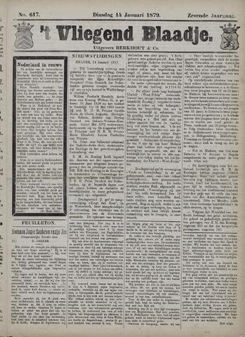 Vliegend blaadje : nieuws- en advertentiebode voor Den Helder 1879-01-14
