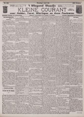 Vliegend blaadje : nieuws- en advertentiebode voor Den Helder 1912-04-03