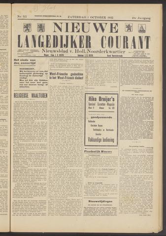 Nieuwe Langedijker Courant 1932-10-01
