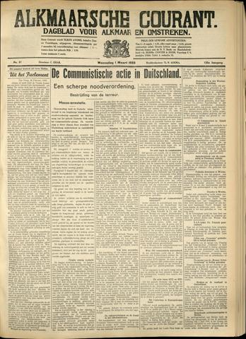 Alkmaarsche Courant 1933-03-01