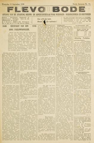 Flevo-bode: nieuwsblad voor Wieringen-Wieringermeer 1946-09-11