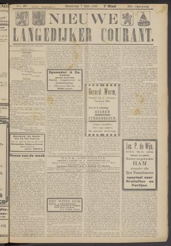 Nieuwe Langedijker Courant 1921-05-07