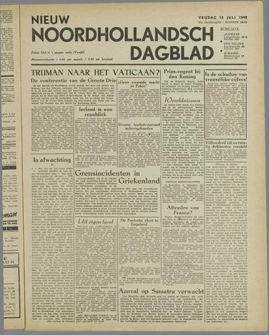 Nieuw Noordhollandsch Dagblad : voor Alkmaar en omgeving 1945-07-13