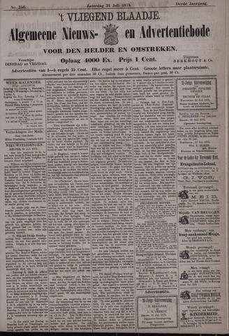 Vliegend blaadje : nieuws- en advertentiebode voor Den Helder 1875-07-31