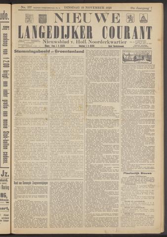 Nieuwe Langedijker Courant 1929-11-19