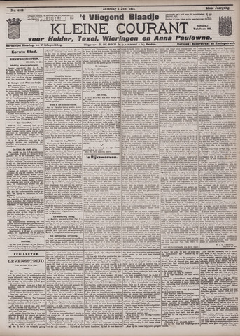 Vliegend blaadje : nieuws- en advertentiebode voor Den Helder 1912-06-01