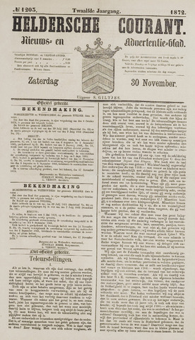 Heldersche Courant 1872-11-30