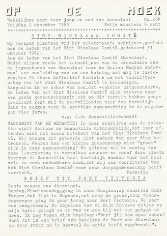Op De Hoek, weekblad voor Akersloot 1962-11-09