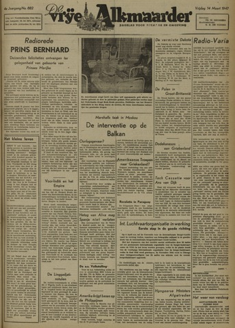 De Vrije Alkmaarder 1947-03-14