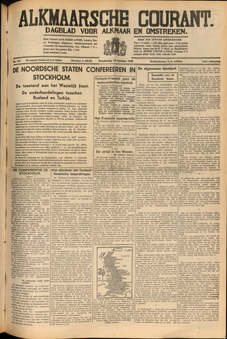 Alkmaarsche Courant 1939-10-19