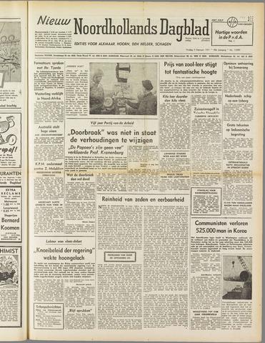 Nieuw Noordhollandsch Dagblad : voor Alkmaar en omgeving 1951-02-09