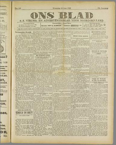 Ons Blad : katholiek nieuwsblad voor N-H 1920-06-28