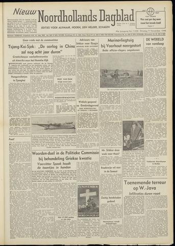 Nieuw Noordhollandsch Dagblad : voor Alkmaar en omgeving 1948-11-09