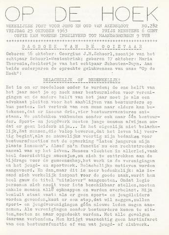 Op De Hoek, weekblad voor Akersloot 1963-10-25