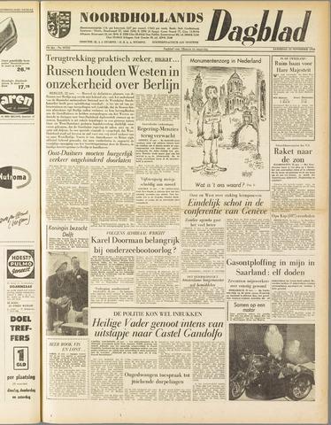 Noordhollands Dagblad : dagblad voor Alkmaar en omgeving 1958-11-22