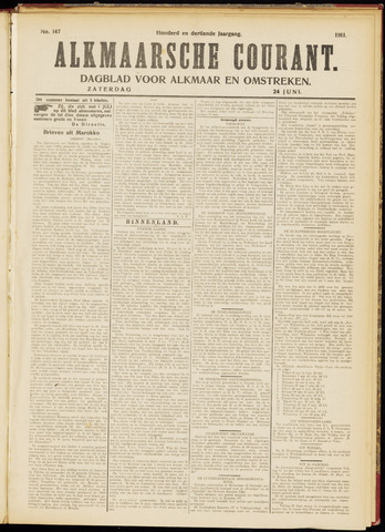 Alkmaarsche Courant 1911-06-24