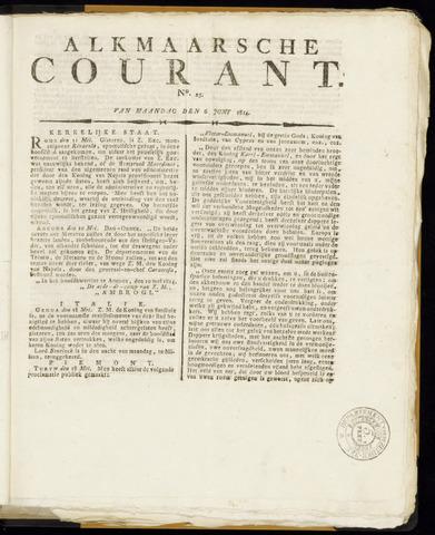 Alkmaarsche Courant 1814-06-06