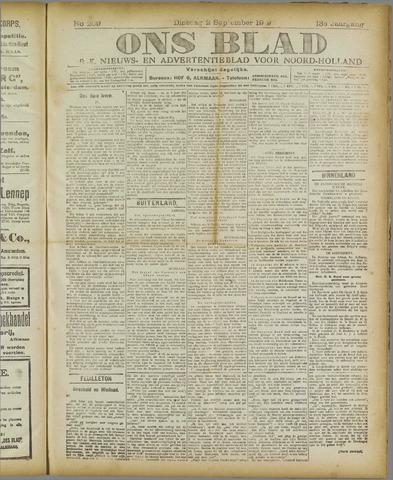 Ons Blad : katholiek nieuwsblad voor N-H 1919-09-02